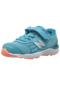New Balance Girls' 680V5 Hook and Loop Running Shoe