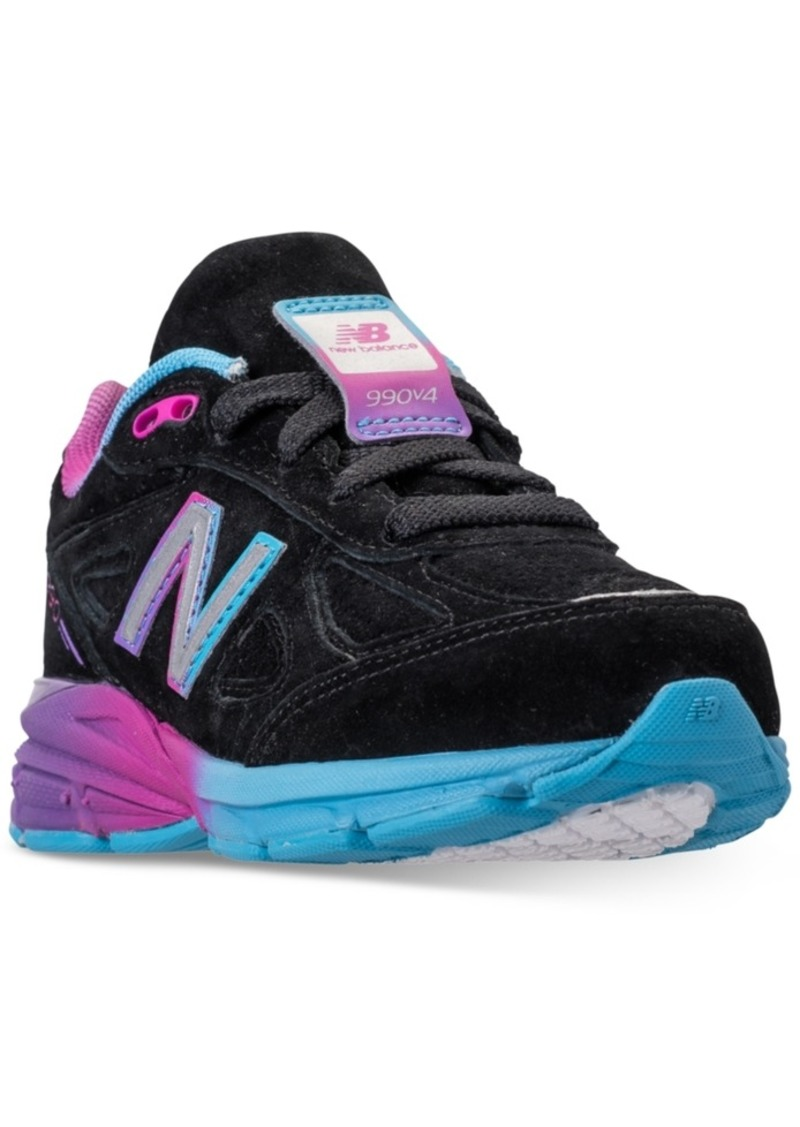 the latest d9135 784a2 Girls' 990 V4 Running Sneakers from Finish Line