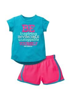 New Balance Girls' Graphic T-Shirt and Short