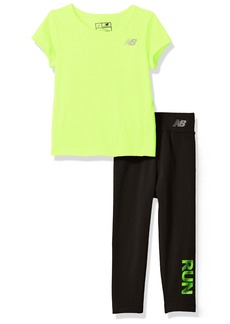 New Balance Baby Girls' Athletic Tee and Legging Sets