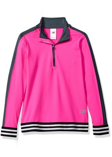 New Balance Kids Girls' Big 1/4 Zip Pullover Top  10/12