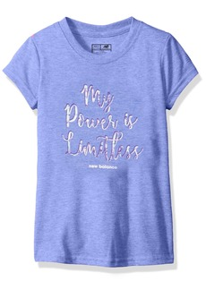New Balance Kids Girls' Big Short Sleeve Graphic Tee  10/12