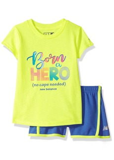 New Balance Kids Girls' Toddler Athletic Tee and Short Set