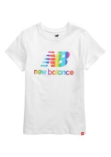 New Balance Kids' Rainbow Logo Graphic Tee (Big Girl)