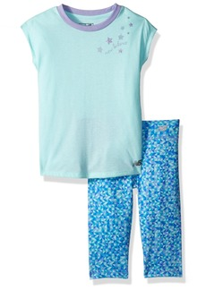 New Balance Kids Toddler Girls' Short Sleeve Top and Capri Set