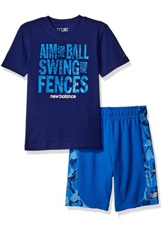 New Balance Baby Boys' Athletic Tee and Short Set