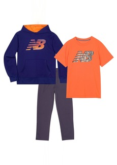 New Balance Little Boys' Hoodie Tee and Pant Set