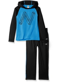 New Balance Boys' Little Long Sleeve Hooded Top & Pant Set