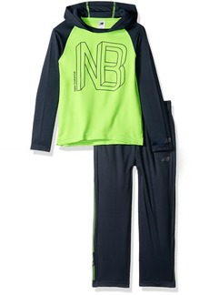 New Balance Little Boys' Long Sleeve Hooded Top and Pant Set