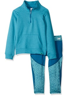 New Balance Little Girls' 1/4 Zip Pullover and Crop Sets