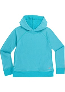 New Balance Girls' Little Athletic Pullover Top with Hood sea/Pisces Cross dye