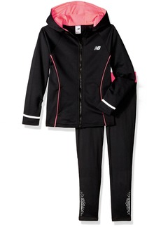 New Balance Little Girls' Hooded Jacket and Tight Sets