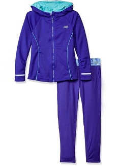 New Balance Little Girls' Hooded Jacket and Tight Sets  6X