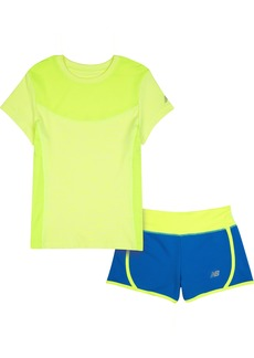 New Balance Little Girls' Performance Tee and Short Sets
