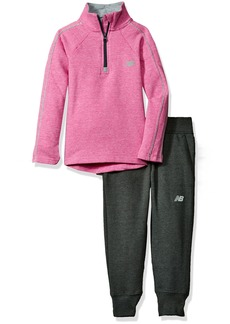 New Balance Little Girls' Pullover Top and Jogger Sets