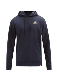 New Balance Logo-embroidered cotton-jersey hooded sweatshirt