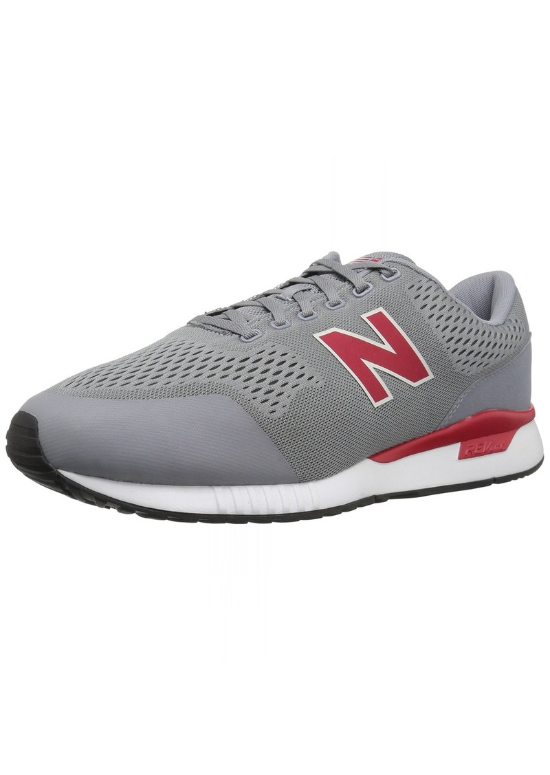 New Balance Men's 005v1 Sneaker Grey/red  D US