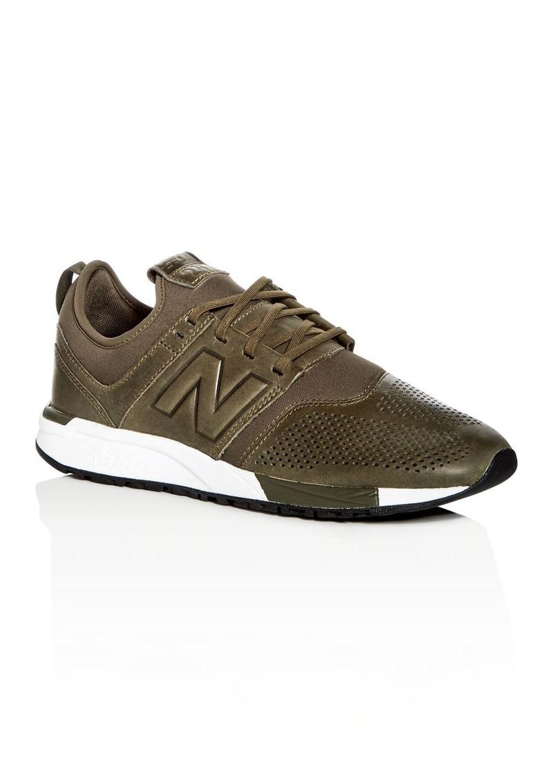 b67c6e5c4448e New Balance New Balance Men's 247 Leather & Neoprene Lace Up Sneakers
