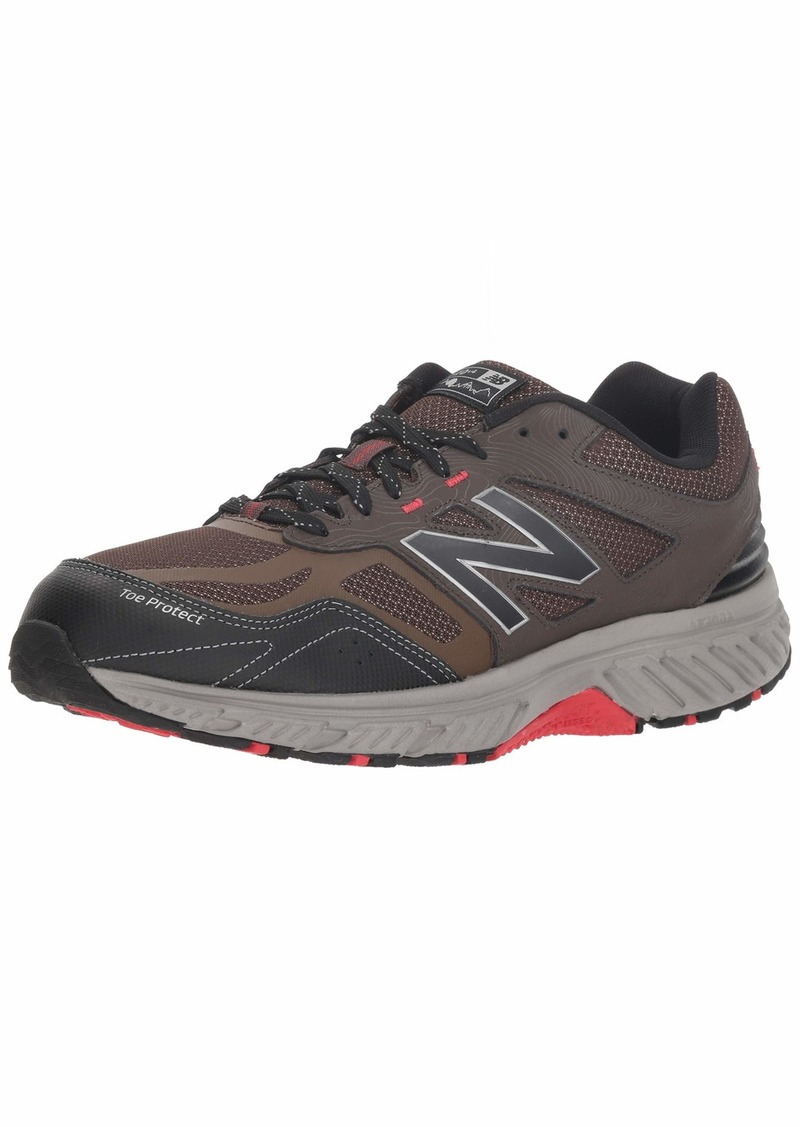 New Balance Men's 510v4 Cushioning Trail Running Shoe Chocolate/Black/Team red