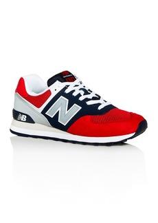 New Balance Men's 574 Mixed-Media Low-Top Sneakers