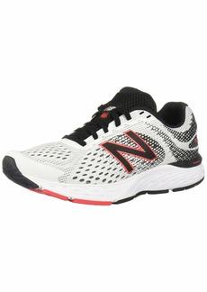 New Balance Men's 680v6 Cushioning Running Shoe White Black 9.5 XXW US