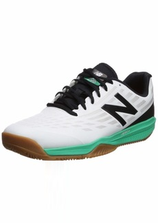 New Balance Men's 796 V1 Hard Court Tennis Shoe White/neon Emerald 6.5 2E US
