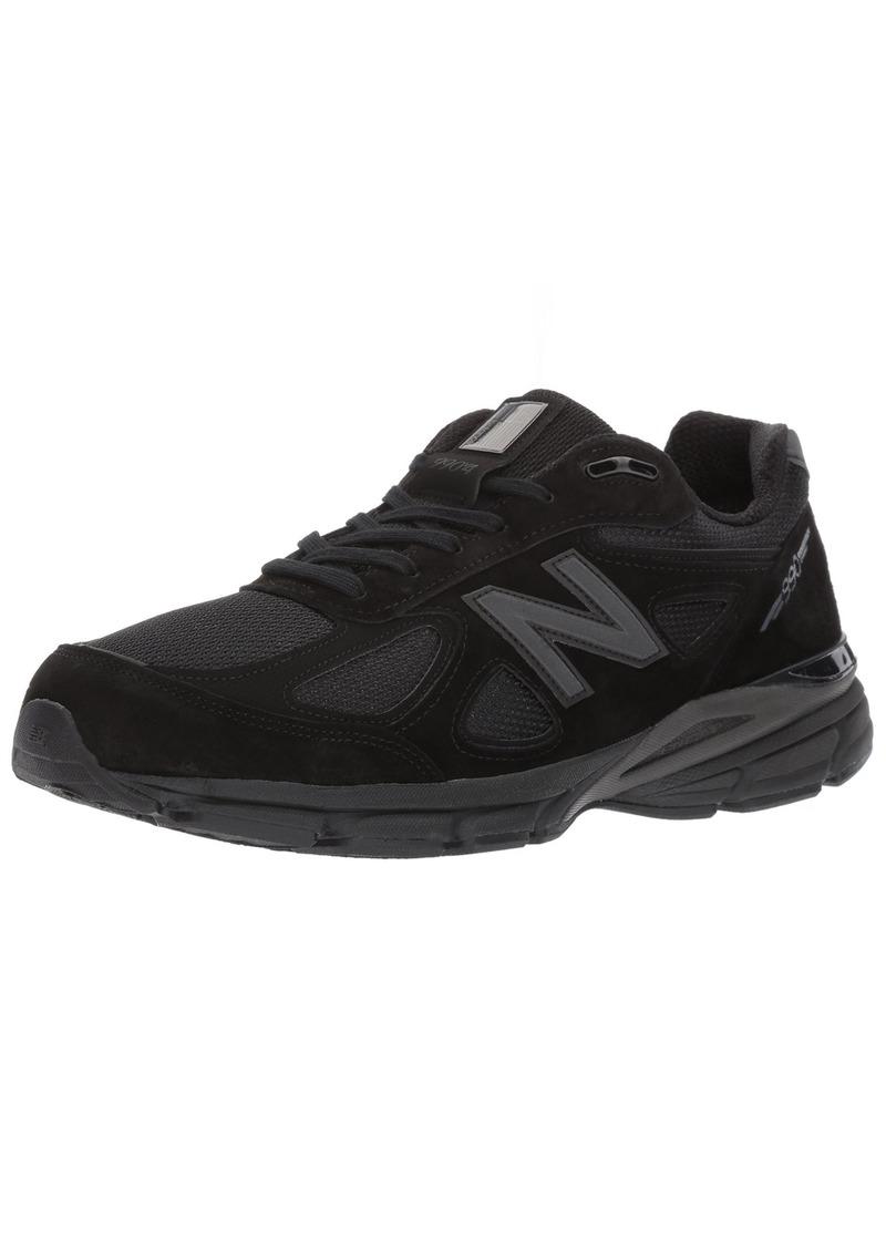 New Balance Men's 990V4 Running Shoe Black/Black  D US