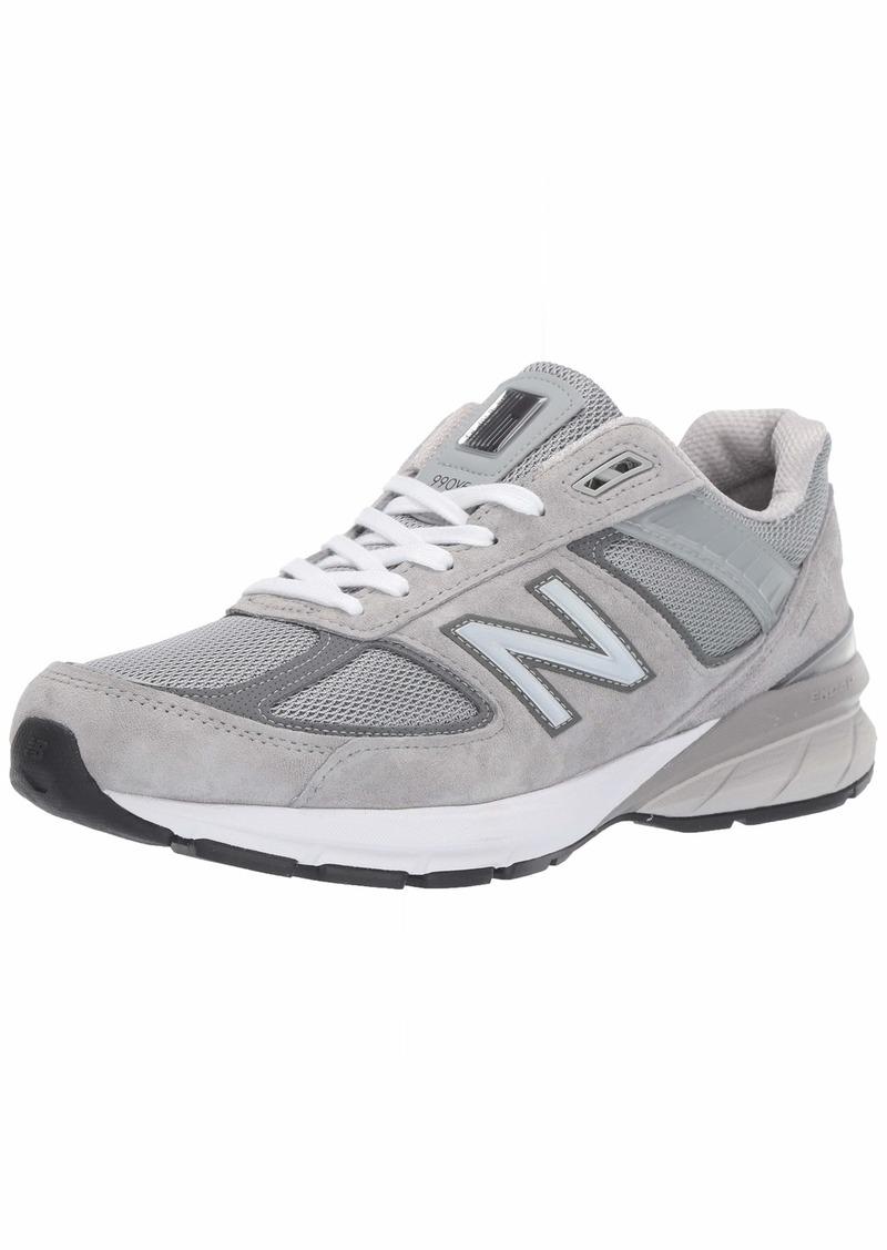 New Balance Men's 990v5 Sneaker GREY/CASTLEROCK  M US