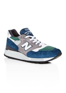 New Balance Men's 998 Color-Block Suede Lace Up Sneakers
