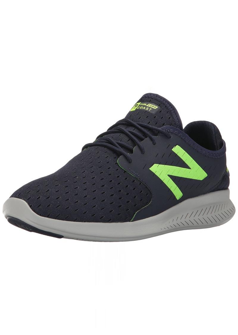 New Balance Men's Coast v3 Running-Shoes NAVY/LIME 10 4E US