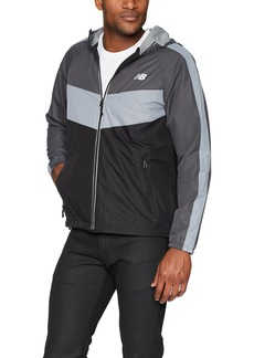 New Balance Men's Colorblocked Chevron Poly Dobby Jacket  XLarge