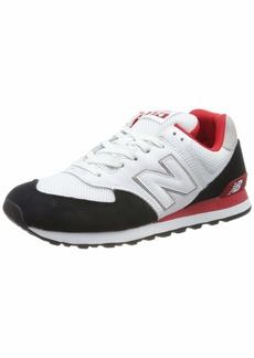 New Balance Men's Iconic 574 V2 Sneaker Black/Team RED  D US