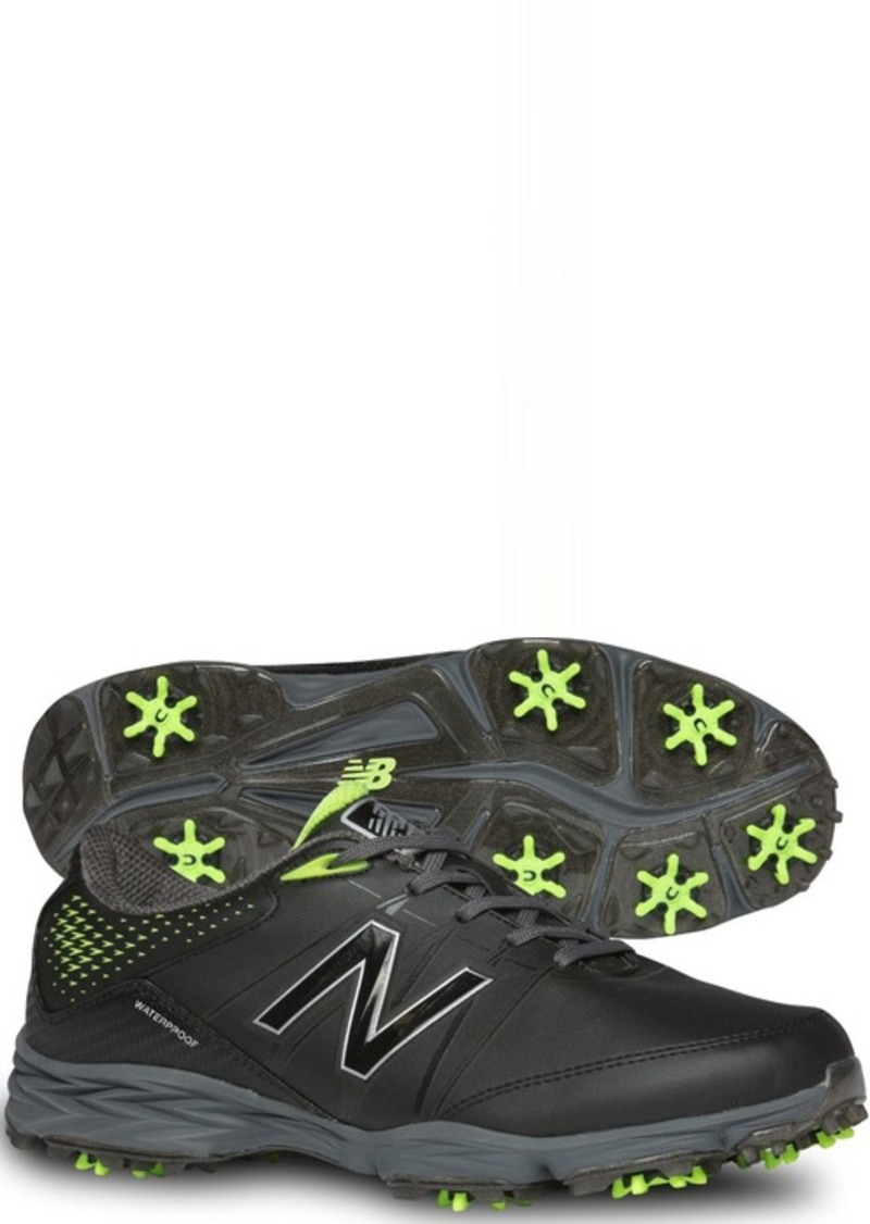 New Balance Men's NBG2004 Waterproof Spiked Comfort Golf Shoe Black/Green  M US