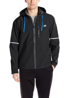 New Balance Men's Printed Soft Shell Bonded Hooded Jacket