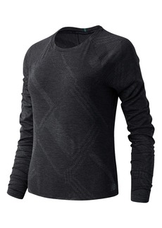 New Balance Q Speed Fuel Long Sleeve Jacquard Knit Top