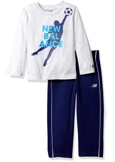 New Balance Boys' Toddler Long Sleeve Top and Pant Set