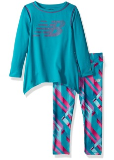 New Balance Toddler Girls' Long Sleeve Top and Print Tight Set