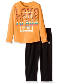 New Balance Girls' Toddler Long Sleeve Top and Tight Set