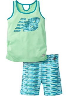 New Balance Girls' Toddler Performance Tank and Bike Short