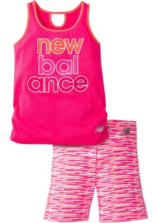 New Balance Toddler Girls' Performance Tank and Bike Short