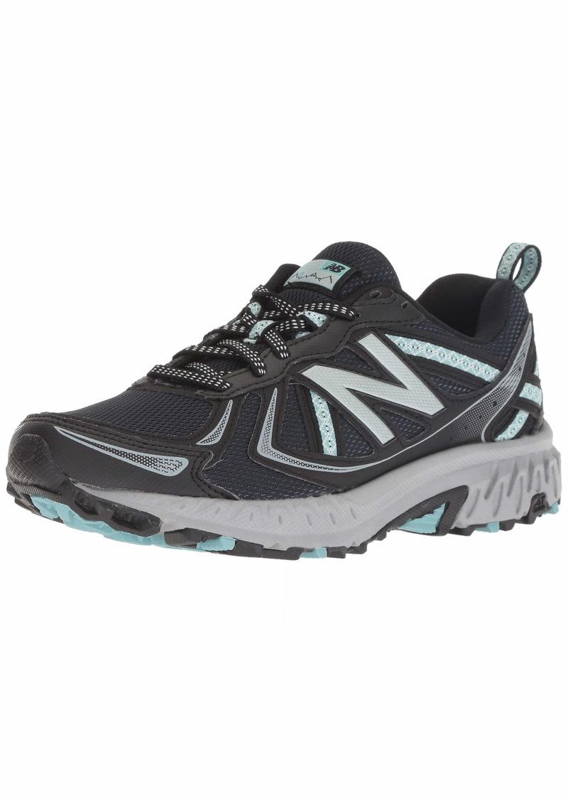 New Balance Women's 410v5 Cushioning Trail Running Shoe Black/Thunder/Ocean air  B US