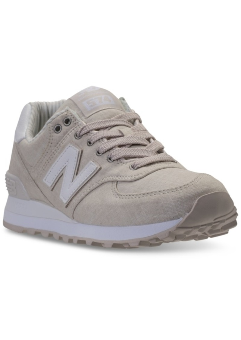 f3f20594d3ef New Balance Women s 574 Beach Chambray Casual Sneakers from Finish Line