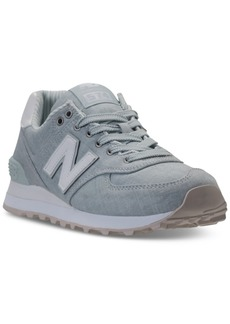 New Balance Women's 574 Beach Chambray Casual Sneakers from Finish Line