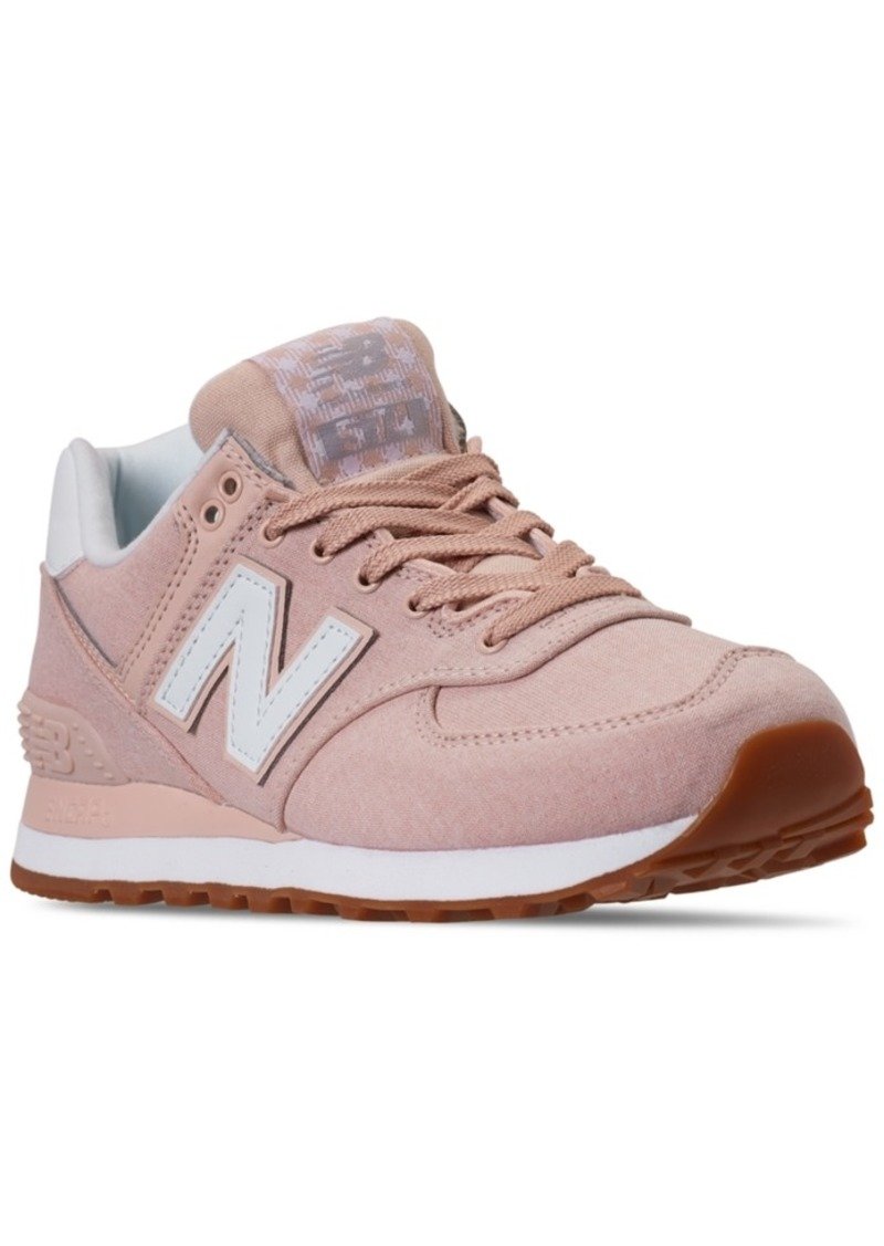 New Balance Women's 574 Gingham Casual Sneakers from Finish Line