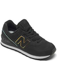 New Balance Women's 574 Iridescent Casual Sneakers from Finish Line