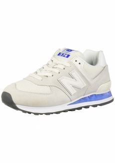 New Balance Women's Iconic 574 V2 Sneaker White/UV Blue 5.5 D US