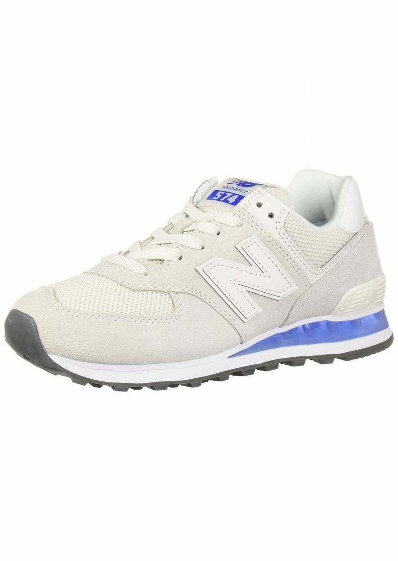 New Balance Women's Iconic 574 V2 Sneaker White/UV Blue 6 B US