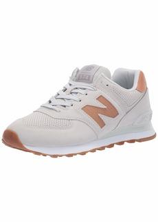 New Balance Women's Iconic 574 V2 Sneaker White/Veg TAN  M US