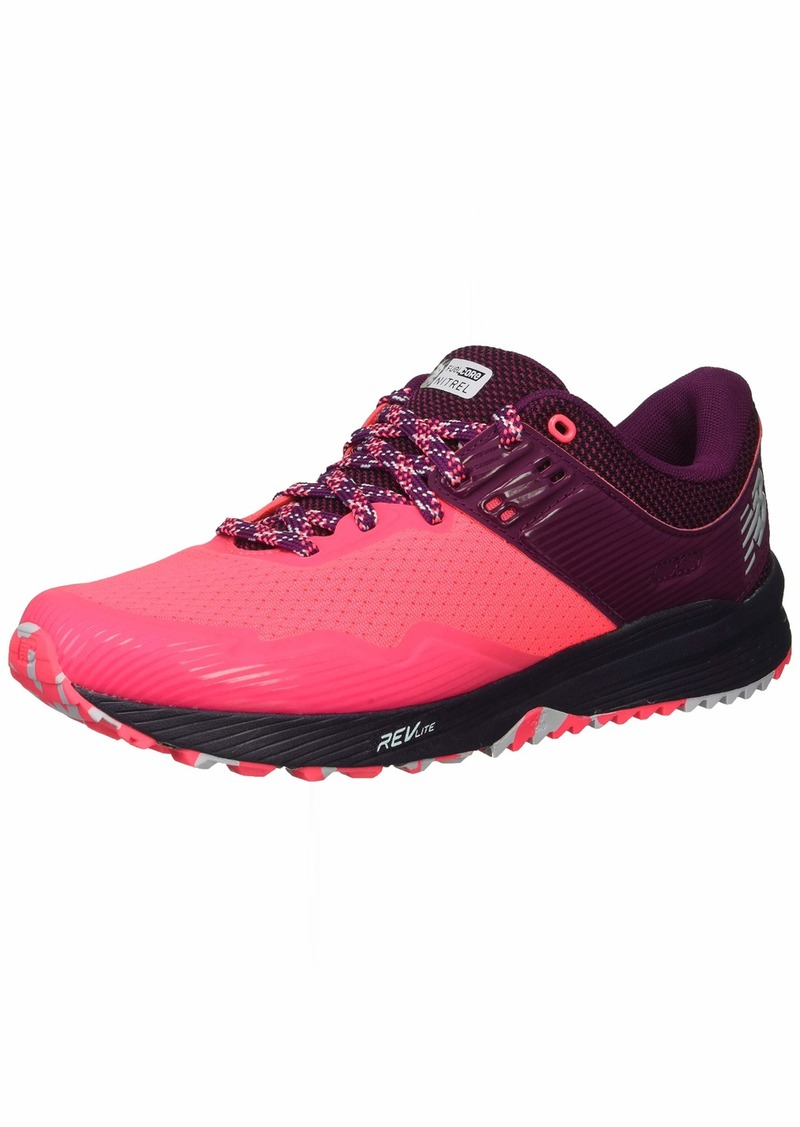 New Balance Women's Nitrel V2 FuelCore Trail Running Shoe Pink zing/Claret/Pigment  B US