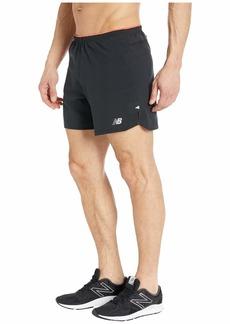 New Balance Printed Impact Run 5-Inch Shorts